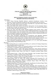 UU No.23 Th 2002 Ttg Perlindungan Anak